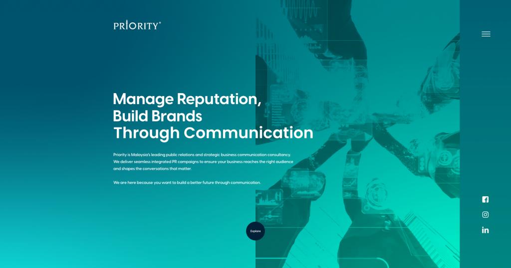 Priority website